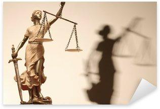 Pixerstick Dekor Rättvisa är blind (... eller kanske inte)