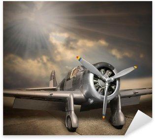 Pixerstick Dekor Retro stil bild av flygplanet.