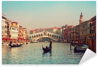 Pixerstick till Allt Rialtobron och gondoler i Venedig.