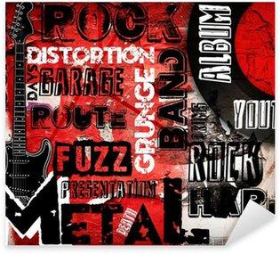 Pixerstick till Allt Rockmusik affisch på röd vägg