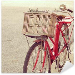 Pixerstick till Allt Röd cykel retro vintage stil