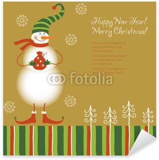 Pixerstick till Allt Rolig snowman, julkort