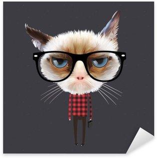 Pixerstick till Allt Rolig tecknad katt, vektor Eps10 illustration.