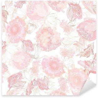 Pixerstick Dekor Romantisk Soft Vector Blommönster