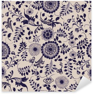 Pixerstick Dekor Seamless blom- dekorativa element i gzhel stil