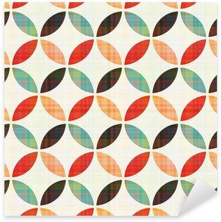 Pixerstick Dekor Seamless geometrisk cirkelmönster