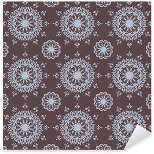 Pixerstick Dekor Seamless handritad mandala mönster för utskrift på tyg eller papper. Vintage dekorativa element i orientalisk stil. Islam, arabiska, indiska, turkiska, ottoman motiv. Vektor illustration.