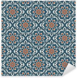 Pixerstick Dekor Seamless handritad mandala mönstret.