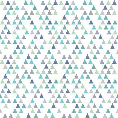 Pixerstick till Allt Seamless hipster geometriskt mönster trianglar aqua blå