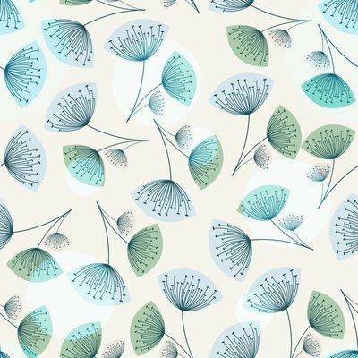 Pixerstick till Allt Seamless maskros mönster i trendiga färger