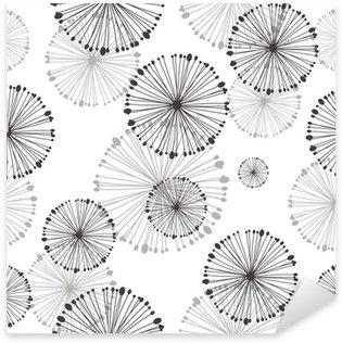 Pixerstick till Allt Seamless mönster av maskros