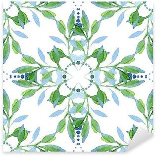 Pixerstick till Allt Seamless vattenfärg blommiga mönster