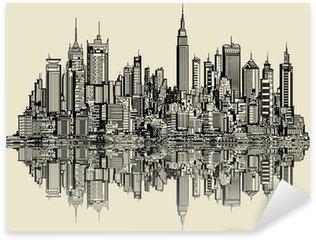 Pixerstick till Allt Skiss av new york