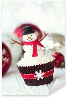 Pixerstick till Allt Snowman cupcake