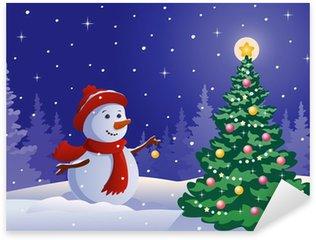 Pixerstick till Allt Snowman dekorera ett träd