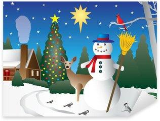 Pixerstick till Allt Snowman i jul vinter scen