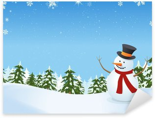 Pixerstick till Allt Snowman I Vinterlandskap