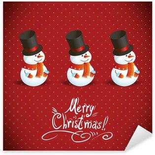 Pixerstick till Allt Snowman illustration till jul design.