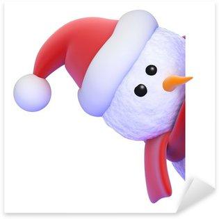 Pixerstick till Allt Snowman peeps runda för att titta på tom sida