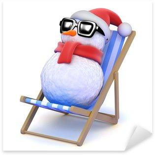 Pixerstick till Allt Snowman slappnar av i en solstol