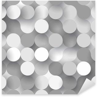 Pixerstick Dekor Sömlösa platta cirklar