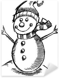 Pixerstick till Allt Söt Holiday Winter skiss Snowman