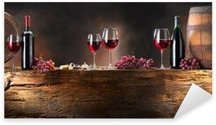 Pixerstick till Allt Stilleben med rött vin med fat på gammalt trä
