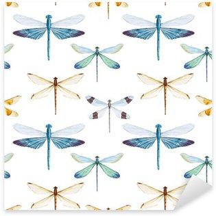 Pixerstick Dekor Vattenfärg sländor mönster