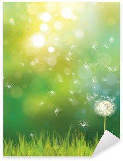 Pixerstick till Allt Vektor av våren bakgrund med vit maskros.