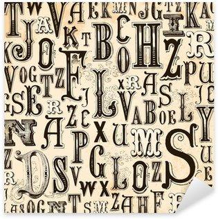Pixerstick till Allt Vintage Alphabet bakgrund