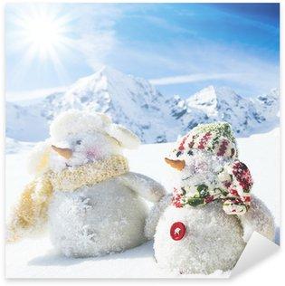 Pixerstick till Allt Vinter, snö - lyckliga snowman vänner