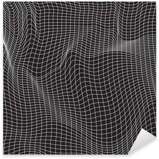 Pixerstick Dekor Vita linjer, abstraktion komposition, berg, vektor design bakgrund
