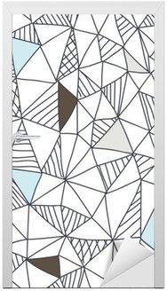 Deursticker Abstracte naadloze doodle patroon