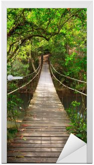 Deursticker Brug naar de jungle, Khao Yai National Park, Thailand
