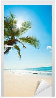 Deursticker Tropisch beach