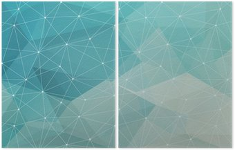 Díptico abstract polygonal background, vector