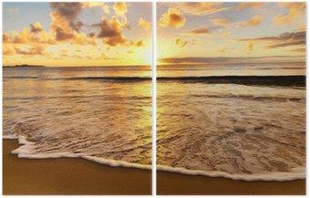 Díptico beautiful sunset on the beach