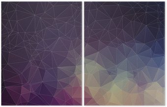 Díptico Colorful geometric background with triangles