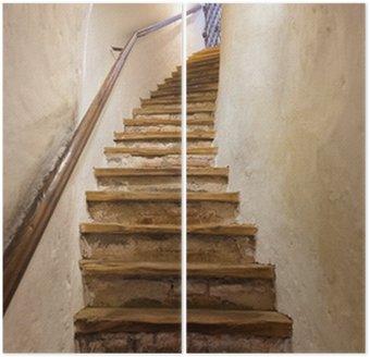 Díptico Escaleras en el castillo Kufstein - Austria