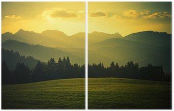 Díptico Scenic paisagem de montanha