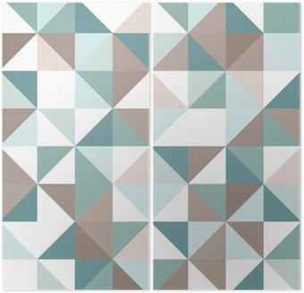 Díptico Triangle seamless pattern