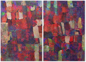 Abstract art painting Diptych