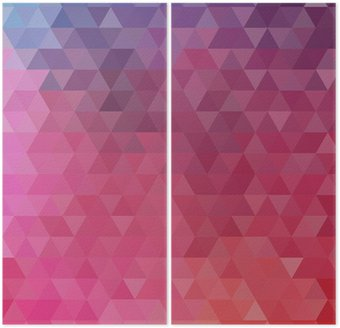 Diptych Abstract color triangle background