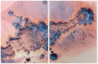 abstract landscapes of deserts of Africa ,Abstract Naturalism,abstract photography deserts of Africa from the air,abstract surrealism,mirage in desert,abstract expressionism, Diptych