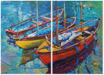 Boats Diptych