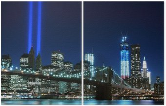 Brooklyn Brigde and the Towers of Lights , New York City Diptych