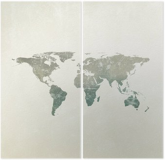 Grunge world map background wall mural pixers we live to change grunge world map background diptych gumiabroncs Gallery