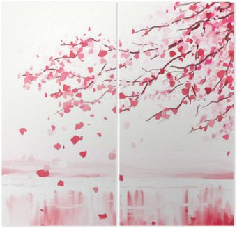 Japanese cherry tree Diptych