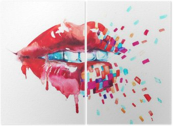 Diptych lips