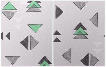 Seamless hand-drawn triangles pattern.